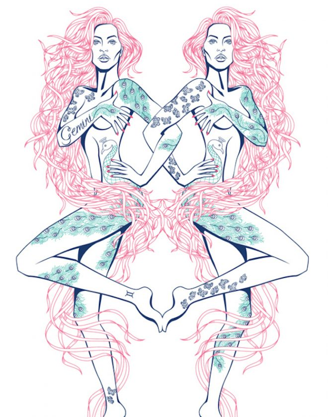 gemini illustration 13th zodiac sign the numinous