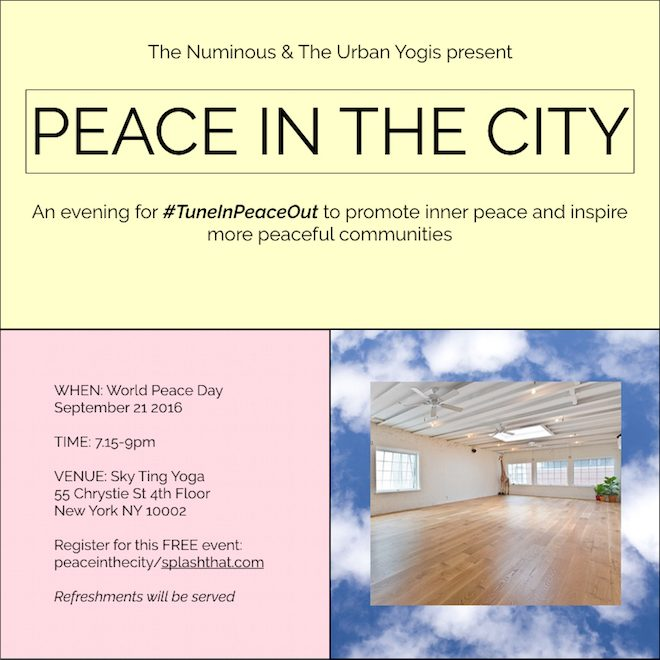 peace in the city urban yogis world peace day my mystical week the numinous