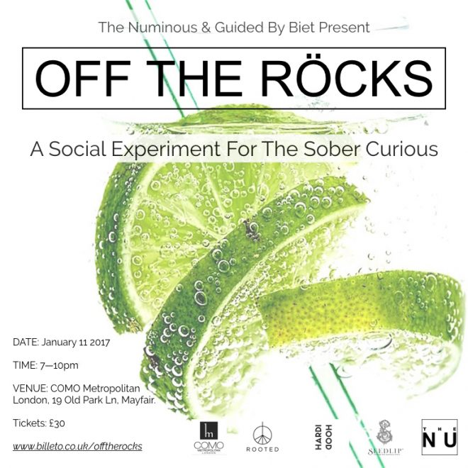 Off The Rocks sober curious event London The Met Bar Ruby Warrington The Numinous