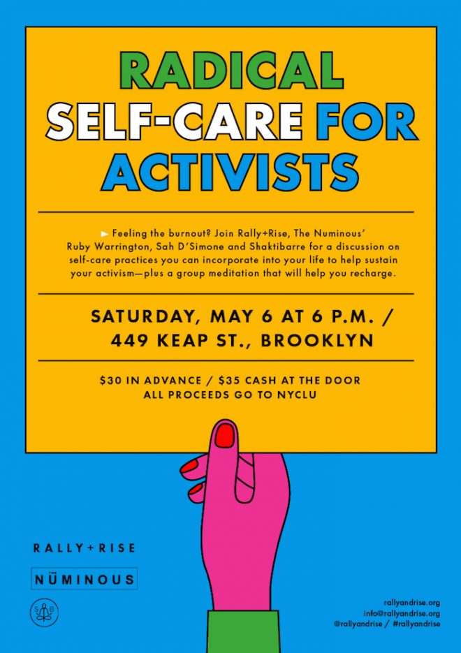 Rally and Rise Self Care for Activists The Numinous Ruby Warrington Shaktibarre