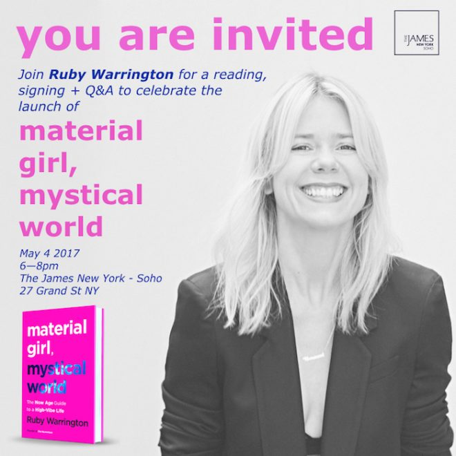 Ruby Warrington book launch party NYC