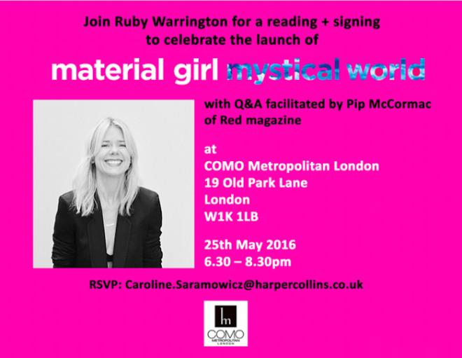Ruby Warrington London Book Launch