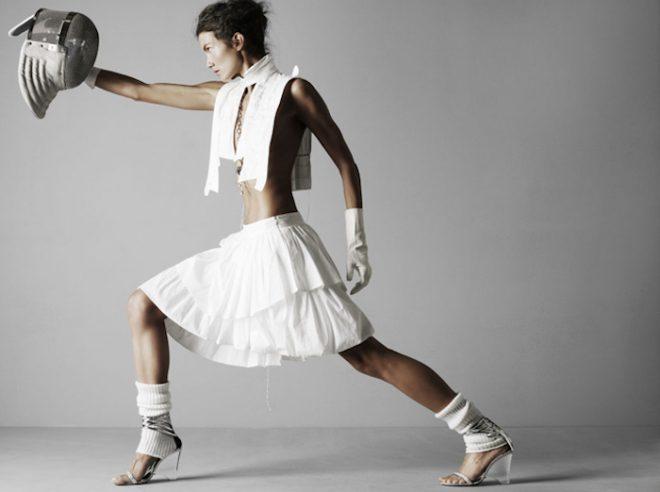 Capricorn Season Mojave Rising The Numinous woman fencing fashion editorial