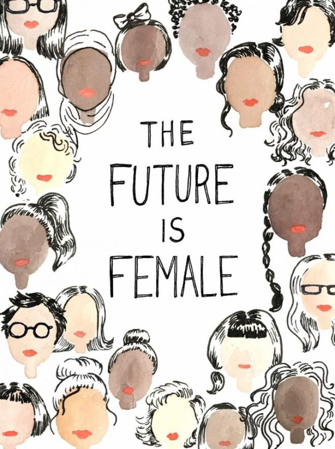 Future is female poster the numinous Moon Club Mooners and Shakers
