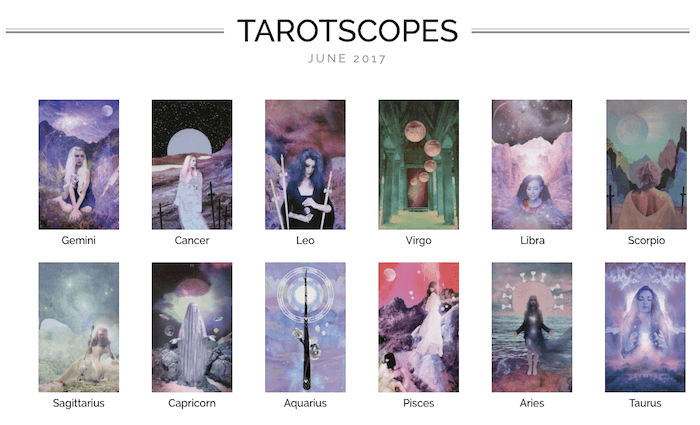 Numinous tarotscopes June 2017