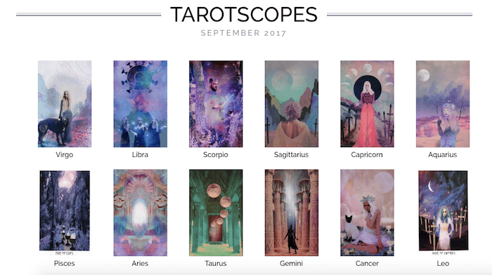 NUMINOUS TAROTSCOPES: SEPTEMBER 2017 - the Numinous