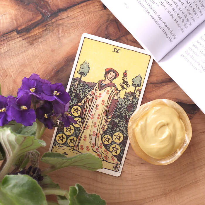tarot practice for october 2017 melinda lee holm ruby warrington the numinous material girl mystical world 9 of pentacles