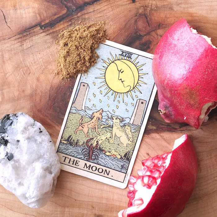 tarot practice for october 2017 melinda lee holm ruby warrington the numinous material girl mystical world the moon