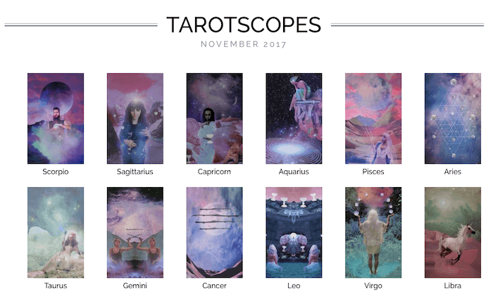 numinous tarotscopes november 2017 lindsay mack ruby warrington material girl mystical world