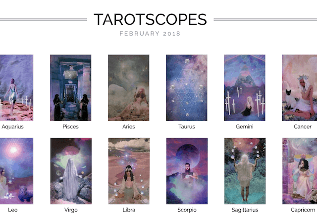 Numinous tarotscopes February 2018 Melinda Lee Holm