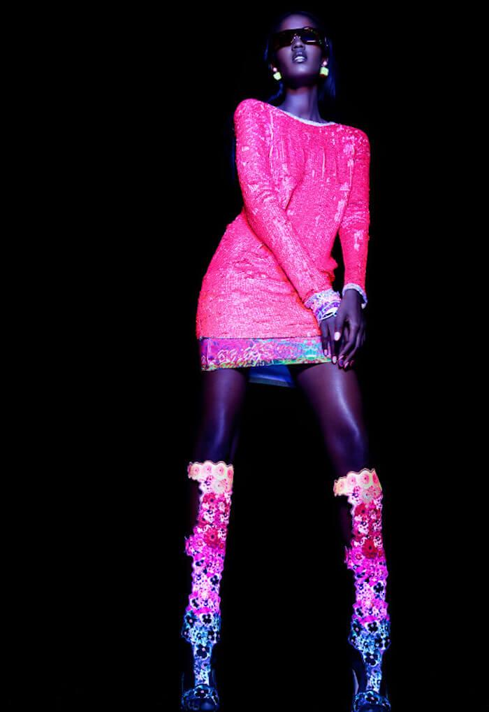 Aquarius season 2018 pink neon dress The Numinous