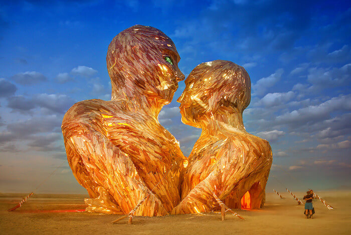 Aquarius Season 2018 burning man sculpture The Numinous