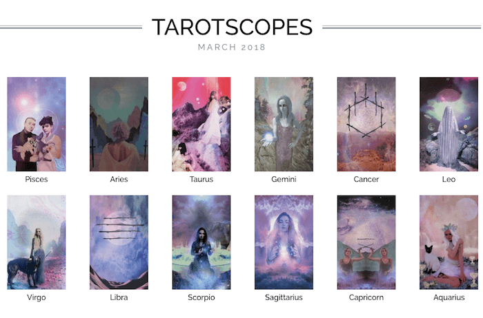 melinda lee holm ruby warrington the numinous monthly tarotscopes march 2018 material girl mystical world starchild tarot