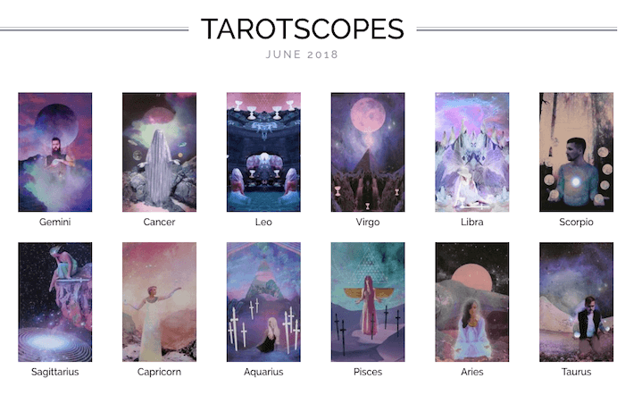 The Numinous Tarotscopes June 2018 Melinda Lee Holm