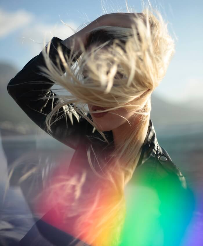 Rainbow hair in the wind Gemini Season 2018 Bess Matassa The Numinous