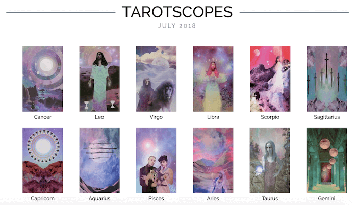melinda lee holm numinous tarotscopes july 2018 ruby warrington material girl mystical world the starchild tarot